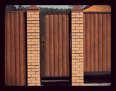 калитка каркас забор