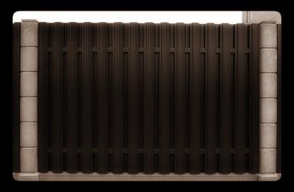 штакетник забор металлический