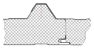Кровельная трехслойная сэндвич панель 80мм