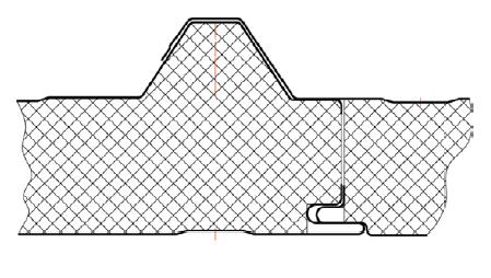 Кровельная трехслойная сэндвич панель 100мм