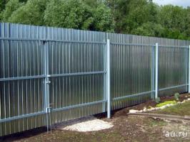 Забор из профнастила C8/Cc10 оцинкованного (две лаги)