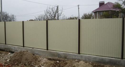 профнастил на забор металлический