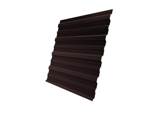 Профнастил двусторонний С10 0,45 RAL8017 (коричневый шоколад)