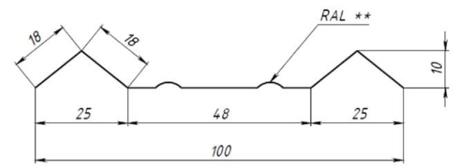 Штакетник М-образный большой 100мм